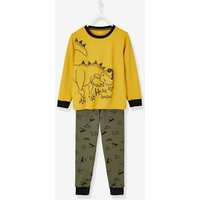 Pyjamas for Boys with Relief Detail yellow dark solid with design