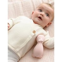Organic Collection Cotton and Wool Baby Cardigan ivory