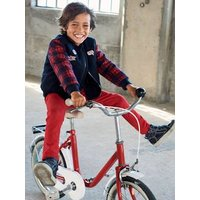 Bomber Jacket in Woollen Fabric for Boys blue dark solid with design