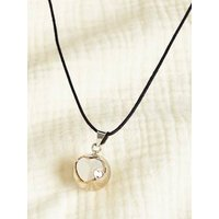 Fancy Bola Babylonia Pregnancy Necklace grey dark metallized