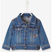 Denim Jacket with Union Jack for Baby Boys blue dark wasched
