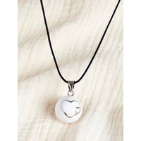 Fancy Bola Babylonia Pregnancy Necklace grey medium metallized