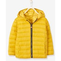 Lightweight Padded Jacket with Hood for Boys yellow dark solid