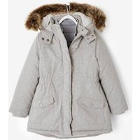 4-in-1 Parka With Fleece Lining For Girls Blue Dark All Over Printed