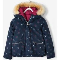 3-in-1 Parka With Fleece Lining, For Girls Blue Dark Solid With Design