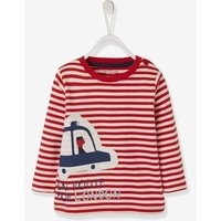 Striped T-Shirt for Baby Boys red dark striped