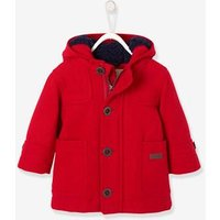 Baby Boys' Padded Duffle Coat with Warm Lining red dark solid