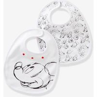 Pack of 2 Mickey ® Print Bibs for Babies white medium solid with design