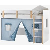 High Bed Curtain-Hut, Everest blue