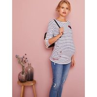 Maternity Sailor-Look Minnie ® Top white light striped