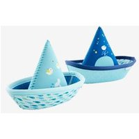 2 Bath-Time Toy Boats, in Neoprene blue light two color/multicol