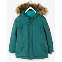 4-in-1 Parka With Fleece Lining For Boys Blue Dark Solid
