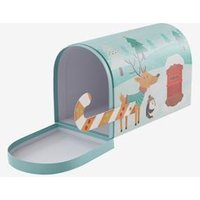 Christmas Post Box green light solid with design