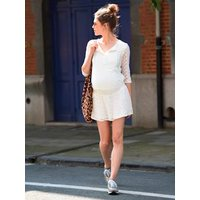 Adaptable Maternity & Nursing Lace Dress ecru