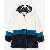 Three-Colour, Faux Fur Coat for Girls white light two color/multicol
