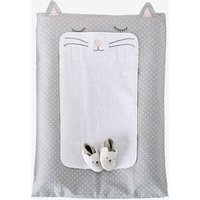 Changing Mat Cover, Cat Theme grey medium all over printed