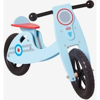 Wooden Scooter white light two color/multicol