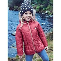 Beanie + Snood with Hearts for Girls blue dark all over printed