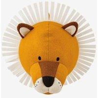 Wall Trophy, Lion orange light solid with design