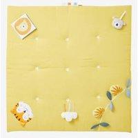 Soft Activity Mat, No Arch, Tropik yellow medium solid wth design