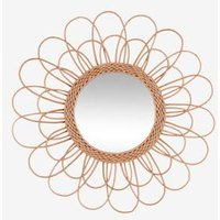 Mirror in Rattan brown light solid