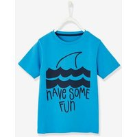 T-Shirt with Shark Motif for Boys grey dark solid with design