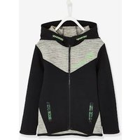 Sports Jacket with Zip, Techno Fabric, for Boys grey dark mixed color