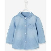 Faded Denim Shirt for Baby Girls blue light wasched