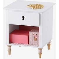 Bedside Table, Romantic Theme white