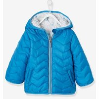 Reversible Jacket with Hood for Baby Boys blue medium solid