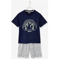 Short Pyjamas with Harry Potter ® Print blue dark solid with design