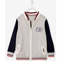 Two-tone College-Type Jacket for Boys grey light mixed color