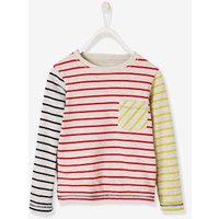 Reversible T-Shirt for Boys, Striped/Print grey light mixed color