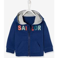 Jacket with Zip and Motif for Baby Boys blue dark solid with design