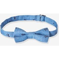 Bow-Tie with Palm Tree Motif for Boys blue medium mixed color
