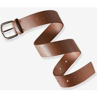 Belt for Boys brown medium solid with design