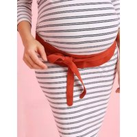 Soft Obi Waist Band, for Mother-to-Be blue dark solid