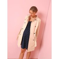 Maternity Trench Coat in Fabric beige medium solid
