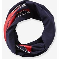 Infinity Scarf with Flag Motif, for Boys blue dark all over printed