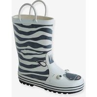 Wellies for Boys, Designed for Autonomy white medium all over printed