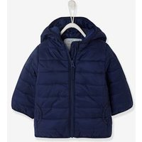 Light Jacket with Hood for Baby Boys blue dark solid