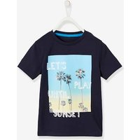 T-Shirt with Photo Print Motif for Boys blue dark solid with design
