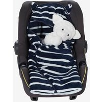 Throw with Hood for Babies blue dark striped