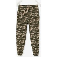 Fleece Trousers for Boys green dark all over printed