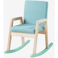 Rocking Chair in Wood green light solid with design