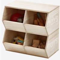 Furniture Unit with 4 Receptacles, Toys beige light solid with design