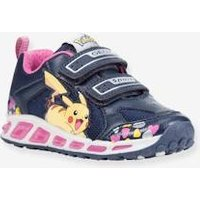 Trainers for Girls, Shuttle Girl D by GEOX ® blue dark solid with design