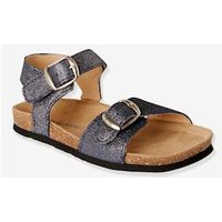 Anatomic Leather Sandals for Girls blue dark solid