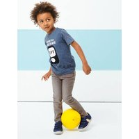 T-shirt with Fun Message and Reversible Sequins, for Boys blue medium mixed color