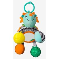 Hedgehog Rattle, with Mirror, by INFANTINO blue